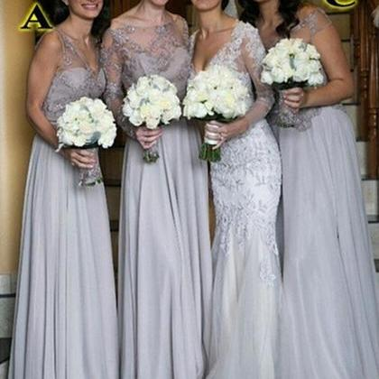 cheap bridesmaid dress chiffon brid..