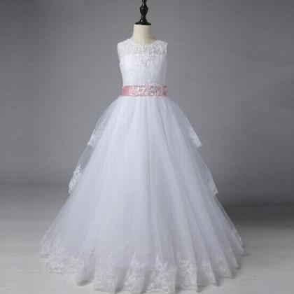 Formal Beautiful Kids Children Lace..