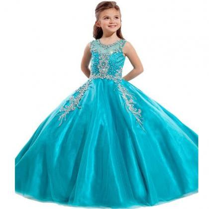 Crystal Ball Gown First Communion D..