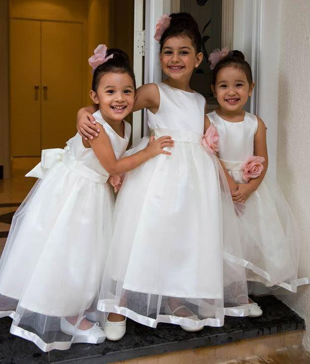 Princess Cute Girl Birthday Wedding Party Formal Flower Girls Dress baby Pageant dresses 345