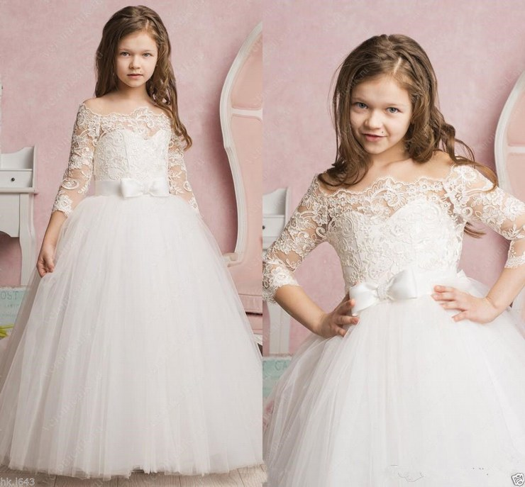 Communion Flower Girl Dress Party Prom Princess Pageant Bridesmaid Wedding ytz238 (1)