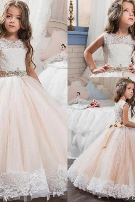 Wedding Flower Girl Dress Party Prom Princess Pageant Bridesmaid Girls' Formal 90