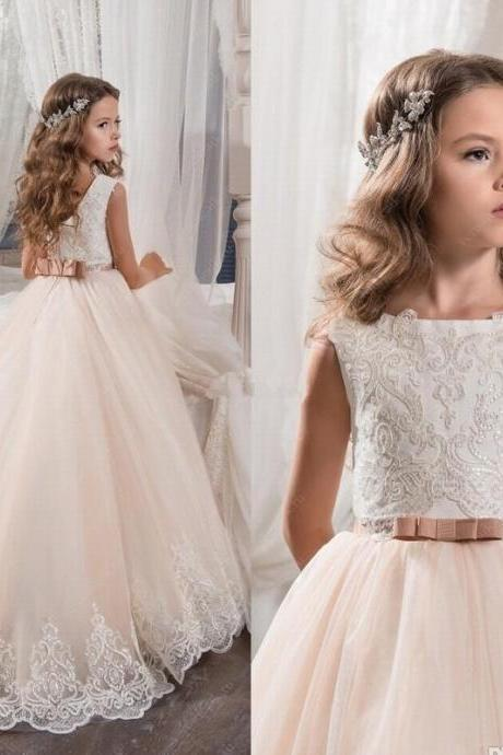 Flower Girl Pageant Dress Kids Formal Ball Gown Princess Party Prom Birthday 91