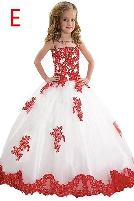 Ball Gown Baby Girl Birthday Wedding Party Formal Flower Girls Dress baby Pageant dresses 233