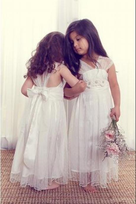 Baby Girl with Bows Birthday Wedding Party Formal Flower Girls Dress baby Pageant dresses 241