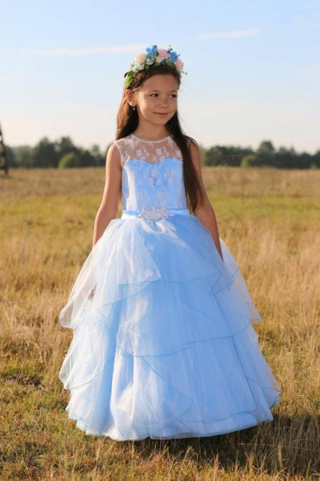 Cute Baby Girl Birthday Wedding Party Formal Flower Girls Dress baby Pageant dresses 257