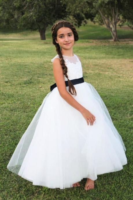 Cute Bridesmaid Girl Birthday Wedding Party Formal Flower Girls Dress baby Pageant dresses 278