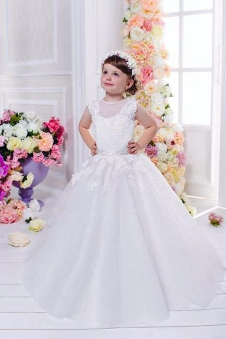 Lace Backless Girl Birthday Wedding Party Formal Flower Girls Dress baby Pageant dresses 290