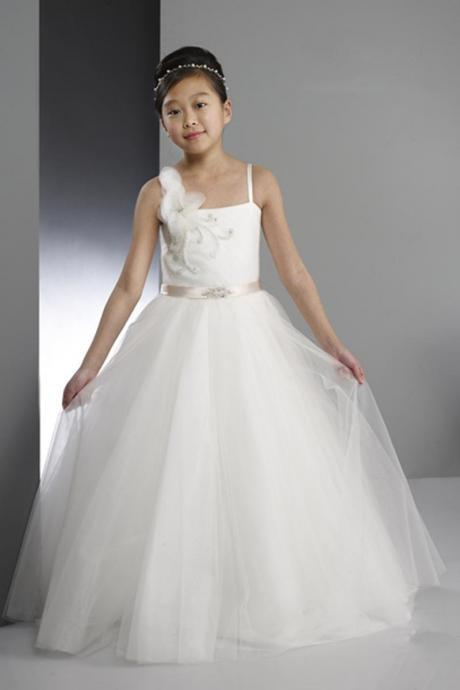 Handmade Flowers Girl Birthday Wedding Party Formal Flower Girls Dress baby Pageant dresses 302