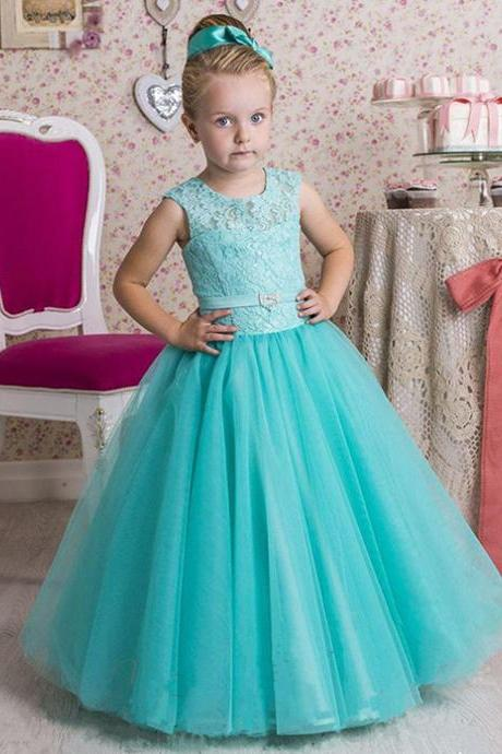 Crew Girl Birthday Wedding Party Formal Flower Girls Dress baby Pageant dresses 332