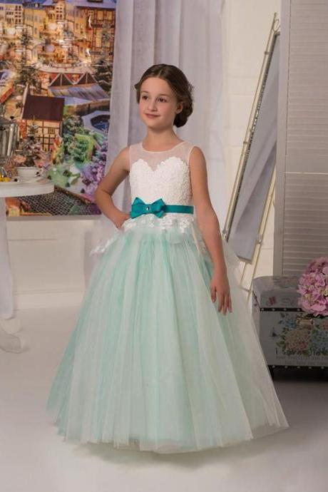New Fashion Girl Birthday Wedding Party Formal Flower Girls Dress baby Pageant dresses 337