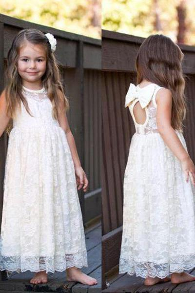 Long A Line Girl Birthday Wedding Party Formal Flower Girls Dress baby Pageant dresses 370
