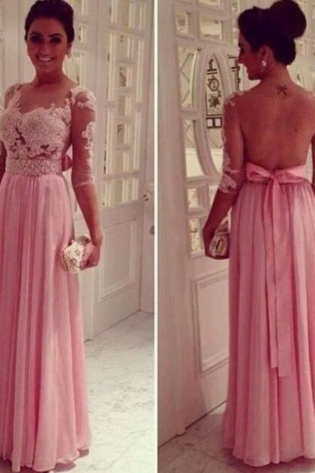 Prom Dresses Sexy Prom Dresses Beaded Prom Dresses Prom Dress with Sleeved Chiffon Prom Dresses Sheer Back Prom Dress Long Prom Dresses Prom Dresses Prom Dresses