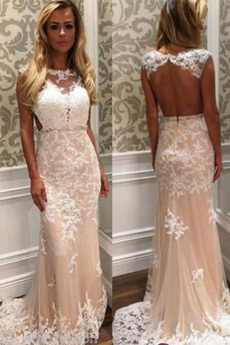 Long Mermaid Bridesmaid Evening Cocktail Formal Party Ball Lace Prom Gown Dress