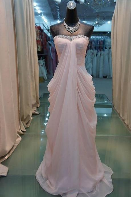 High Quality Prom Dress Chiffon Prom Dress A-LineProm Dress Strapless Prom Dress Sequined Prom Dress