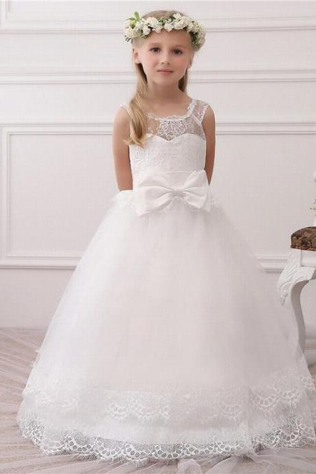 Formal Beautiful Kids Ball Gown Children Lace Flower Girl Dresses .Flower Girl Dresses.Flower Gril Dresses,Satin Flower Girl Dresses ytz144