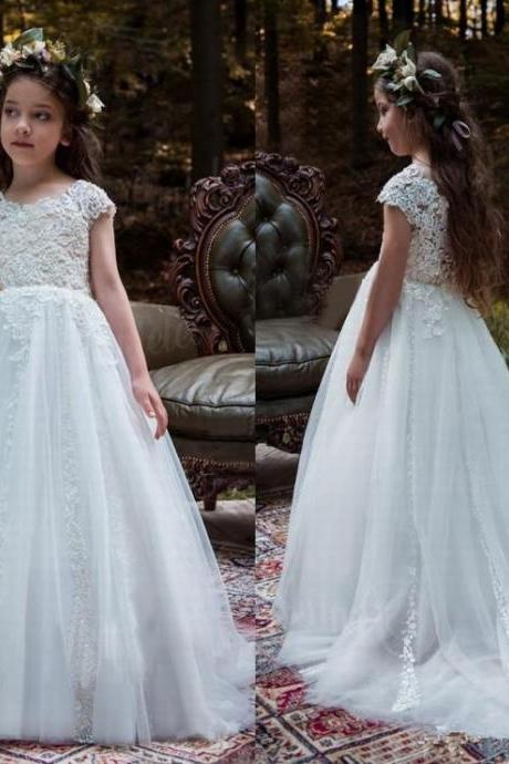 Girl's Lace Baby Princess Bridesmaid Flower Girl Dresses Wedding Party Dresses ytz174 (1)
