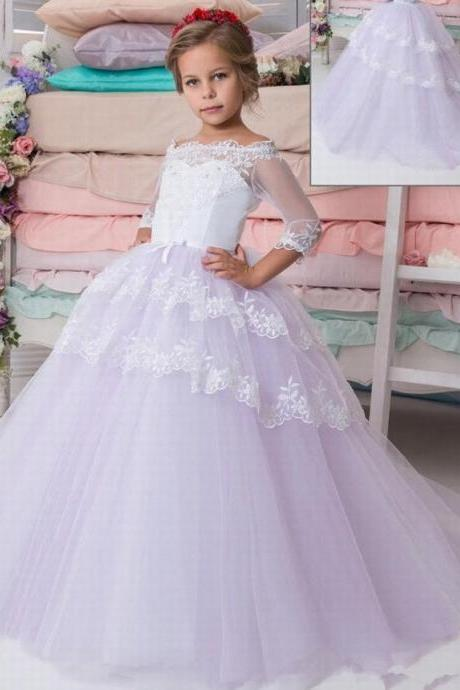 Communion Flower Girl Dress Party Prom Princess Pageant Bridesmaid Wedding ytz175 (1
