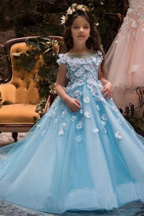 Flower Girl Dress Prom Princess Pageant Communion Bridesmaid Wedding ytz186