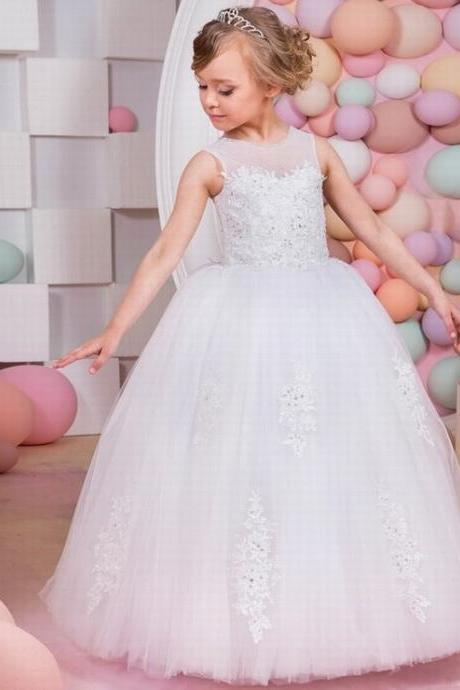 princess formal first communion dresses for girls 2017 sweetheart puffy corset ball gown girls dress 8 10 for wedding party ytz213