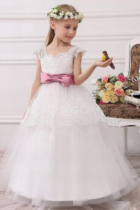 Formal Party Formal Flower Girls Dress baby Pageant dresses Birthday Communion Toddler Kids TuTu Dress for Wedding ytz226