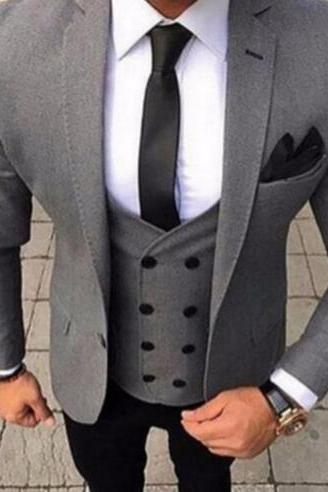 Top Selling Men Suits For Wedding 3Pieces(Jacket+Pant+Vest+Tie) Latest Design Terno Masculino Groom Custom Made Fashion Blazer