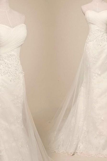 Pageant Applique Sweetheart Long A Line Lace Bridal Wedding Dresses Formal Floor Length c33