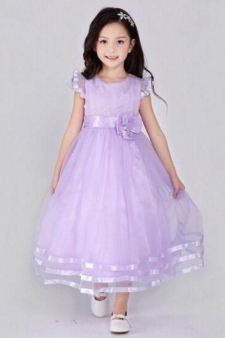 Formal Long Flower Girl Dresses Children Birthday Dress Tulle Kids Wedding Party Dresses 1103-30