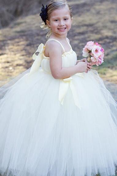 Flower Girl Dresses Children Birthday Dress Crystal Pink Ball Gown Tulle Wedding Party Dresses h101