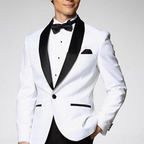Custom Made Groomsman New Arrival Groom Tuxedos 10 Styles Men's Suit Classic Best Man Wedding Prom Suits (Jacket+Pants+Tie+)